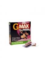 G-Max Power Caps Femme (2 gélules) : Le booster de Libido pour femmes 100% naturel : augmente le Désir et le Plaisir. Effets Puissants et Rapides.