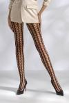 Collants résille TI048 - noir - Collants résille à mailles fantaisie, style 70's.
