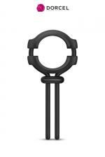 Anneau ajustable Fit ring - Dorcel : Anneau 100% ajustable en silicone pour le pénis et les testicules, pour améliorer la qualité et la durée de l'érection.