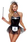 Déguisement sexy de soubrette - Paris Hollywood - Costume érotique de soubrette pour réaliser vos fantasmes les plus coquins !
