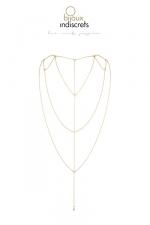 Chaine dos et décolleté dorée : Chainettes dorées, collection Magnifique,  à porter comme accessoire de mode ou comme accessoire érotique, à vous de décider.