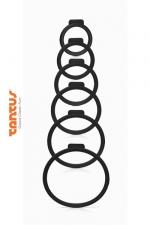 Kit O Ring - Tantus : 6 anneaux de tailles diff�rentes pour adapter le sextoy de votre choix � votre harnais Tantus.