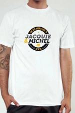 T-shirt J&M n°2 (taille XL 2XL 3XL) : Le Tee-shirt exclusif (visuel 2) à l'effigie de  Jacquie & Michel, votre site amateur préféré.