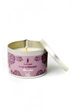 Bougie de massage Chocolat : Bougie de massage parfum Chocolat fabriquée en France pour des moments sensuels.