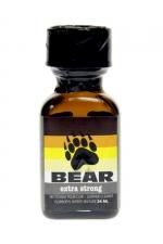Poppers Bear 24 ml : Puissant odoriser aphrodisiaque offrant des sensations rapides et intenses, formulé à partir de nitrites d'ispopropyle.