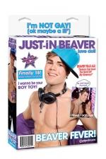 Poup�e Just-In Beaver : Poup�e gonflable bi-sexuelle � l'effigie de la c�l�bre star.