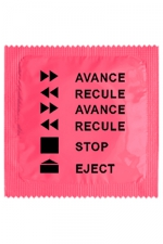 Préservatif humour - Avance Recule : Préservatif Avance Recule, un préservatif personnalisé humoristique de qualité, fabriqué en France, marque Callvin.