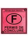Préservatif humour - Permis De Conclure - Préservatif Permis De Conclure, un préservatif personnalisé humoristique de qualité, fabriqué en France, marque Callvin.