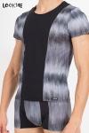 T-Shirt Shade - Tee shirt bicolore en lycra, assorti � la gamme de lingerie masculine Shade de Look Me.