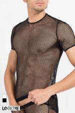 T-Shirt Hook : Tee-shirt sexy à large résille, pour exhiber vos muscles avec style !