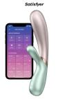 Rabbit chauffant Hot Lover menthe beige - Satisfyer - Faites monter la température avec ce Rabbit de dernière génération chauffant, rechargeable, connecté, étanche et ergonomique !