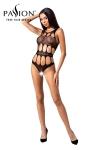 Body ouvert résille BS083 - Noir - Body ouvert noir de type bodystocking de la marque Passion